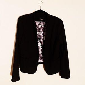 Black Cropped Blazer Size L - Dalia - Great Lining